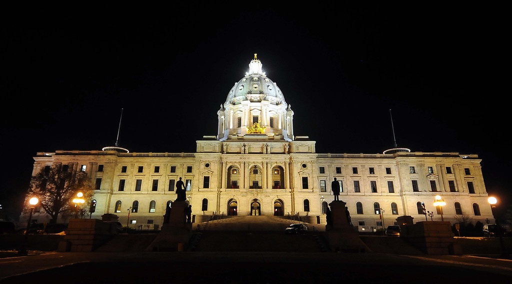 . More than a few Minnesota State Capitol employees have reported feeling an eerie �presence� while working alone at night. (Pioneer Press file photo)