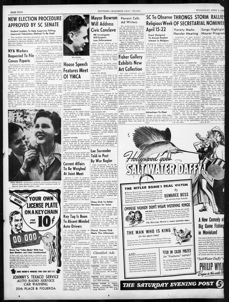 Daily Trojan, Vol. 31, No. 116, April 03, 1940