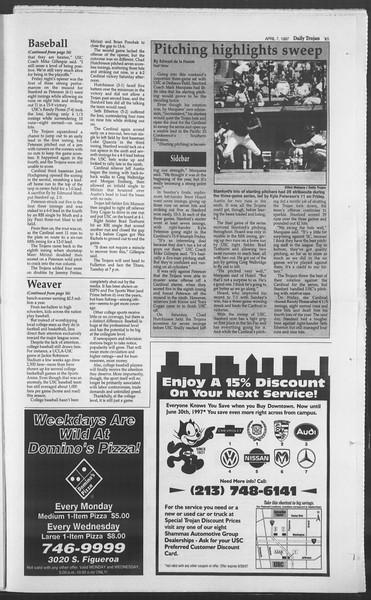 Daily Trojan, Vol. 130, No. 52, April 07, 1997