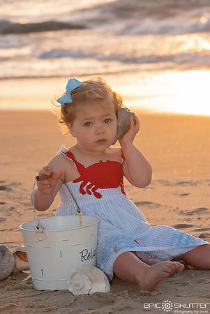 Sunrise Family Portraits, Avon, North Carolina, Epic Shutter Photography, Outer Banks Photographers, Hatteras Island Photographers, Childrens Portraits, Family Vacation