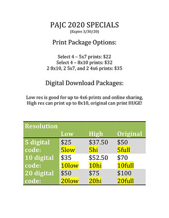 Packages and Coupons