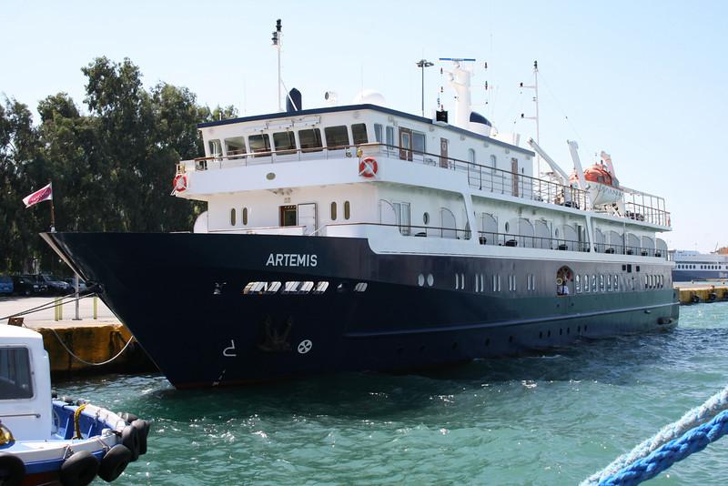 F/B ARTEMIS in Piraeus. A small exclusive cruise ship.