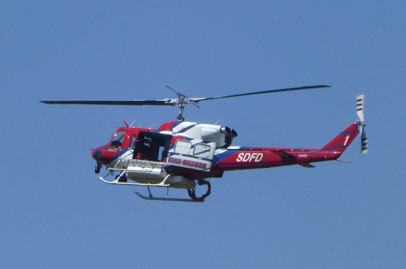 SDFD helicopter