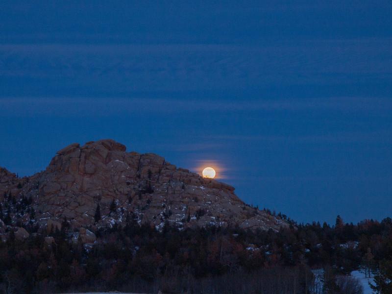 New Year's Blue Moon. December 31, 2009. Vedauwoo, Wyoming