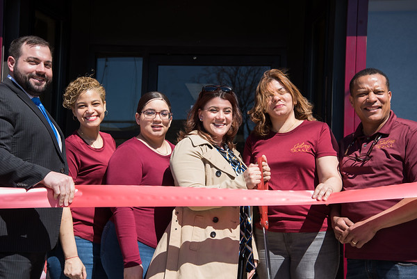 04/16/19 Wesley Bunnell | Staff Jalao Deli and Restaurant located at 647 Stanley St held a grand re-opening on Tuesday afternoon. New Britain Chamber Interim President Kyle Kummer, employee Glenda Brito, employee Nicole Perez, Mayor Erin Stewart, co-owner Adalgiza Perez and husband co-owner Domingo Santos.