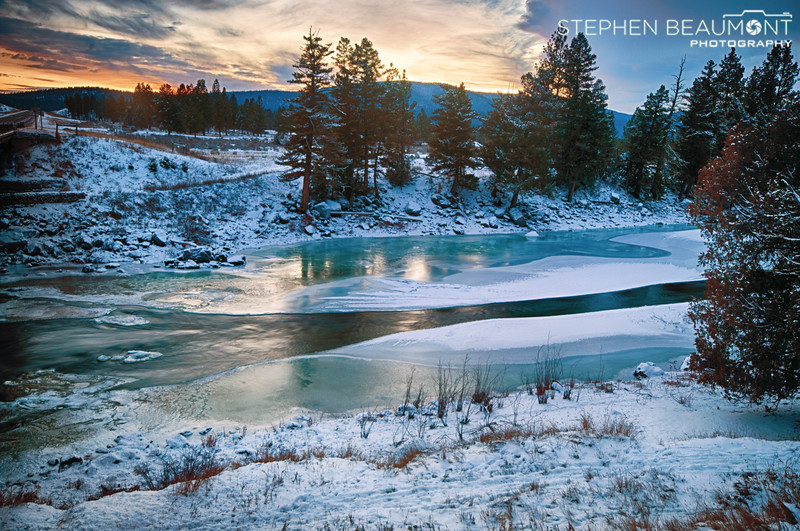 The Icy Blackfoot at Sunset