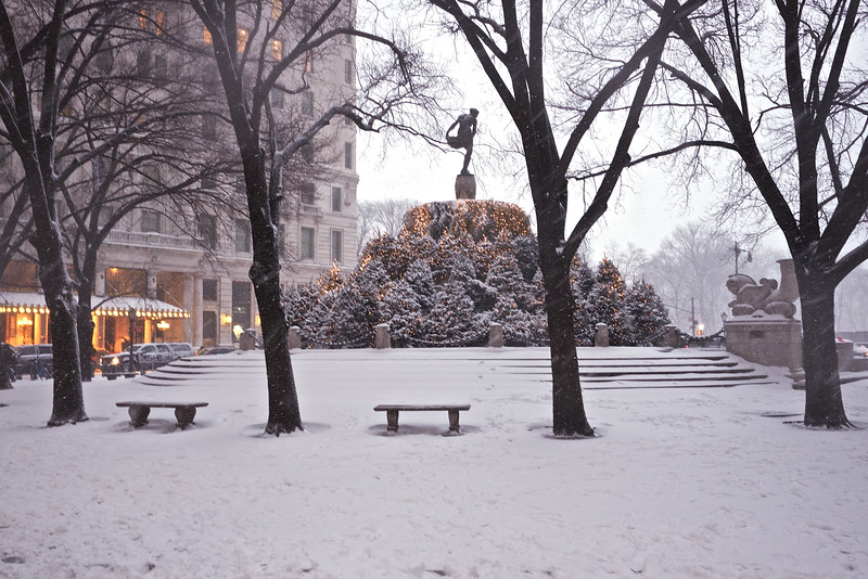 Grand Army Plaza In Snow
