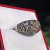 0.94ctw Vintage Old European Cut Diamond Dome Ring, Center OEC (GIA .59ct G SI2) 22