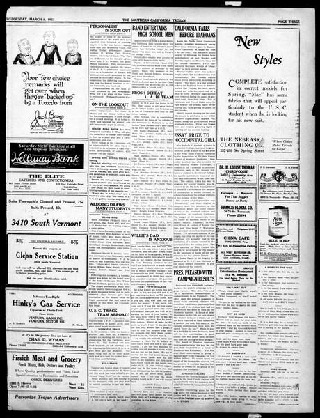The Southern California Trojan, Vol. 14, No. 65, March 08, 1923
