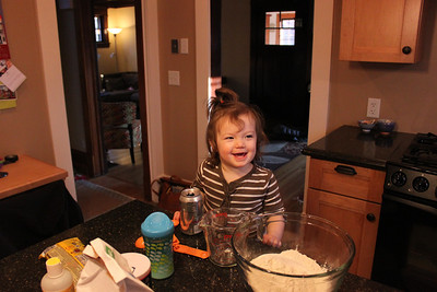 2012-02-Maggie and Dad Make Cookies