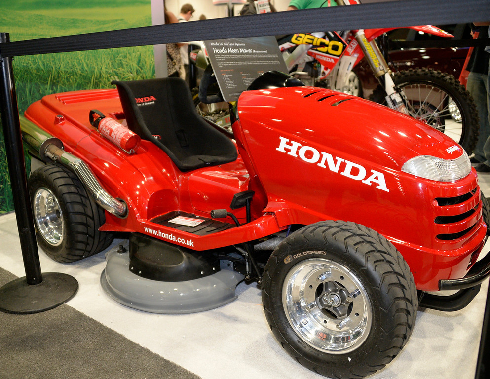 . Nov 6,2013 Las Vegas NV. USA. Honda\'s mean mower on display during the second day of the 2013 SEMA auto show. Photo by Gene Blevins/LA Daily News