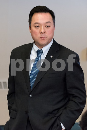 03/15/18 Wesley Bunnell | Staff Candidate for Attorney General William Tong speaks at the Pulaski Club on Thursday evening as he along with other Democratic candidates for state office met with the Democratic Town Committee as well as New Britain residents.