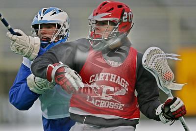 3/25/2013 - scrimmage - Carthage vs. Cicero-North Syracuse - Cicero-North Syracuse High School, Cicero, NY