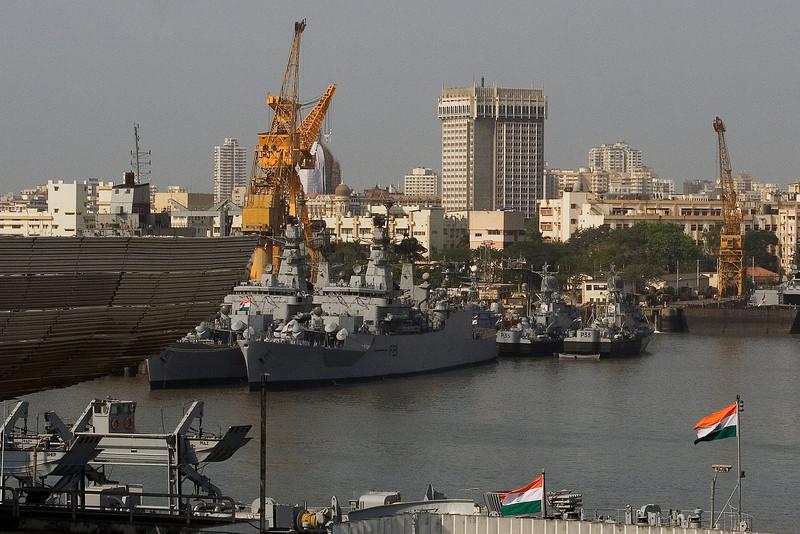 Warships in Mumbai Harbor.jpg