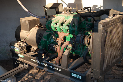 This gas engine had run onluyy once, when it was installed!