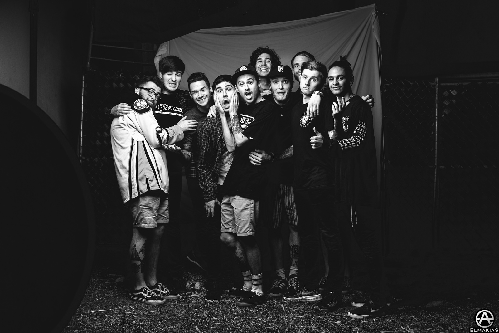 photograph of Neck Deep and Real Friends by Adam Elmakias
