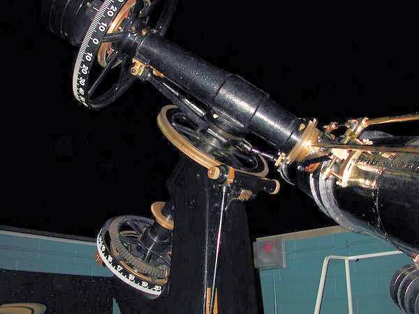 Equatorial mount of the 11 inch Breashear Telescope