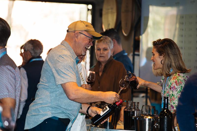Guests sampling wines at the 2019 Napa Valley Barrel Auction