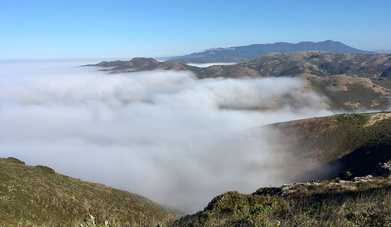 Marin Headlands under a blanket of fog...
