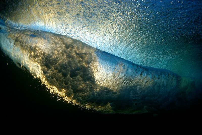 Early bird underwater view at Cloudbreak