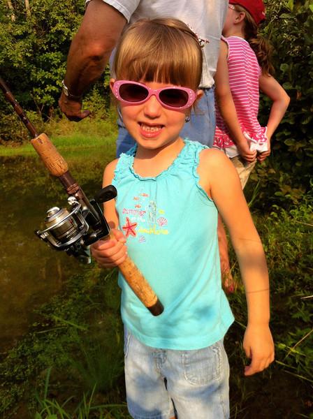 She liked the big fishing pole better