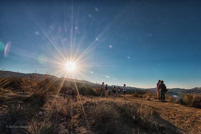 Red Rock Cliffs First Light - Baker Canyon, Nov 4, 2012