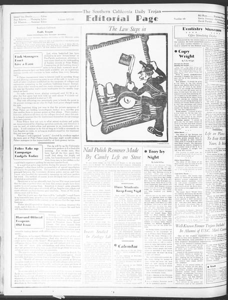Daily Trojan, Vol. 28, No. 68, January 18, 1937