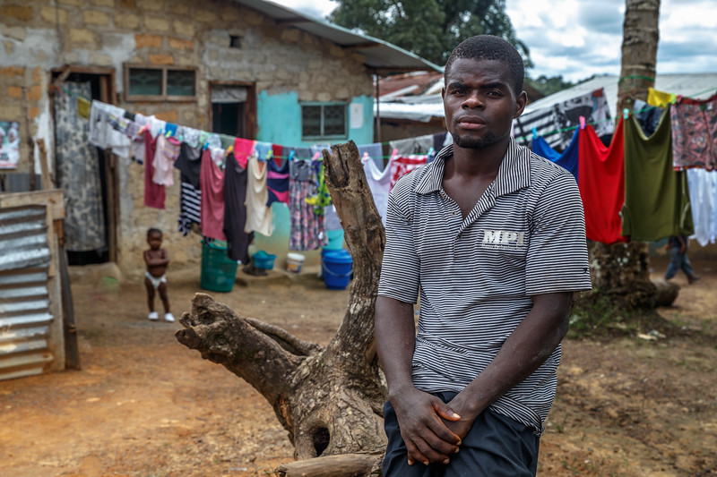 Monrovia, Liberia October 8, 2017 - Boimah Dorley, worked with the Carter Center CJA to settle a debt dispute that involved police and possible jail time.