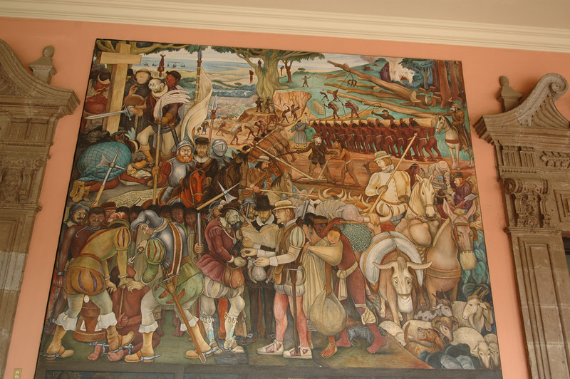 A Diego Rivera Mural at the National Palace