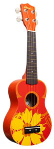 Orange Flower Ukulele