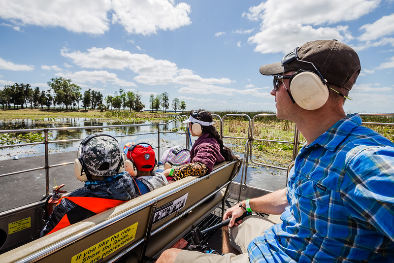 Air boat tour in Kissimmee, Florida