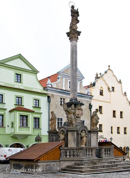 Statues in Cesky Krumlov
