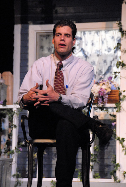 5/8/07 – I shot the PGHS school play, All My Sons. After the play they had a session where the audience could ask the actors questions. This is Stewart, the teacher, leading that discussion.