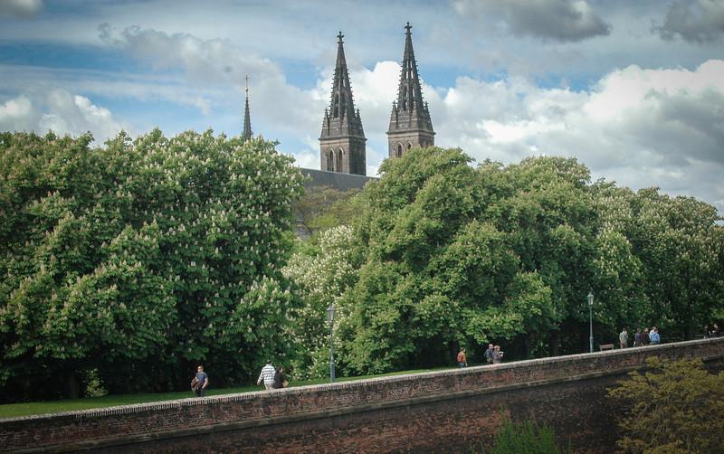 Prague: Vysehrad, old city walls and Basilica of Saints Peter & Paul