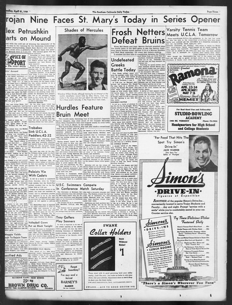 Daily Trojan, Vol. 29, No. 120, April 21, 1938