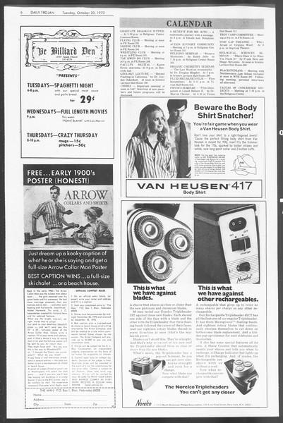 Daily Trojan, Vol. 62, No. 20, October 20, 1970