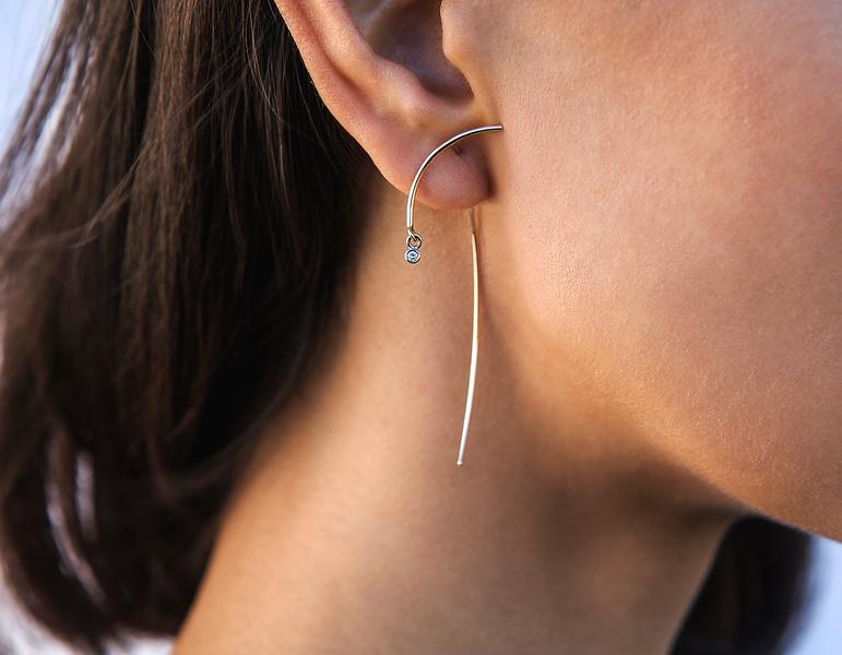 """Diamond Earrings"", Client - TARA4779"