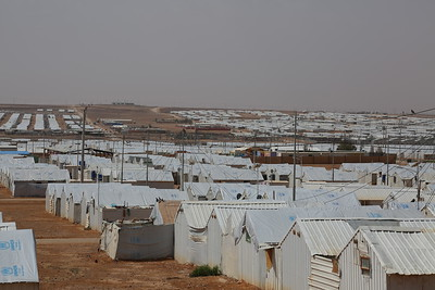 Wide-shots of Azraq Camp