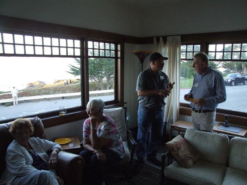 Lynn James and Artist Barry Rowe
