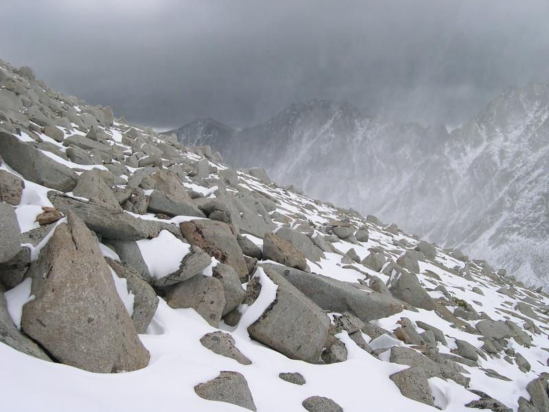 (2004-September 20) Mount Goode in Snow Storm