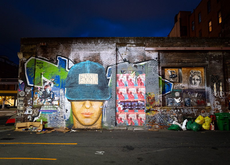 Brick Alley Wall in Seattle, Washington