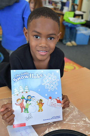 Kindergartners Make Little Snowflakes for their Classrooms