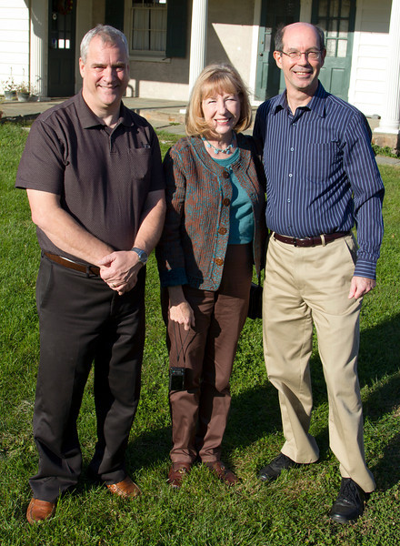 Mark Calhoun (Vice President of the Johnsville Centrifuge and Science Museum), Andrea Sutcliffe, and ?? (need name)