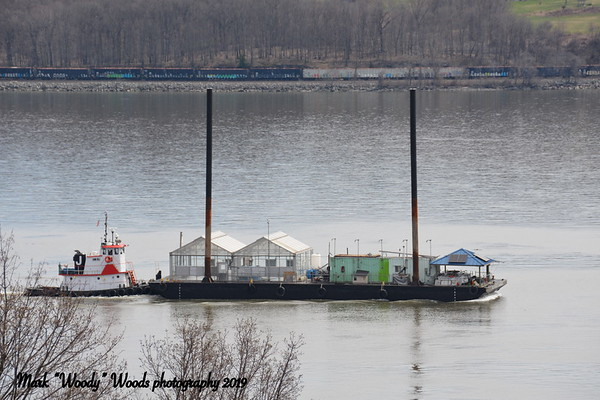 Today 4/11/19 at 10:50 I spy, from my perch, mini tug Fred Johannsen southbound. Unusual configuration on the birdge. Image may contain: sky, outdoor, water and nature Image may contain: ocean, sky, outdoor, water and nature