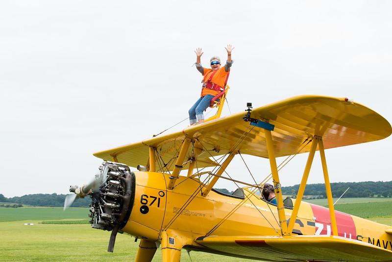 Martine Powell's Wingwalk  @ Chiltern Park Aerodrome.  09.06.2018 by Sophie Ward Photography