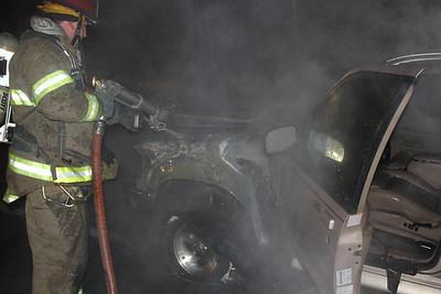 Car Fire, Top of Vulcan, SR54, Barnesville (2-25-2013)