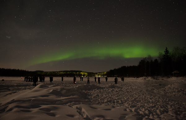 The Northern Lights Over the Arctic Snow Hotel