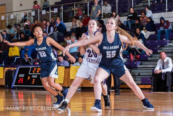 Broughton girls varsity basketball vs Millbrook. February 15, 2019. 750_7357