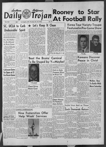 Daily Trojan, Vol. 44, No. 47, November 20, 1952