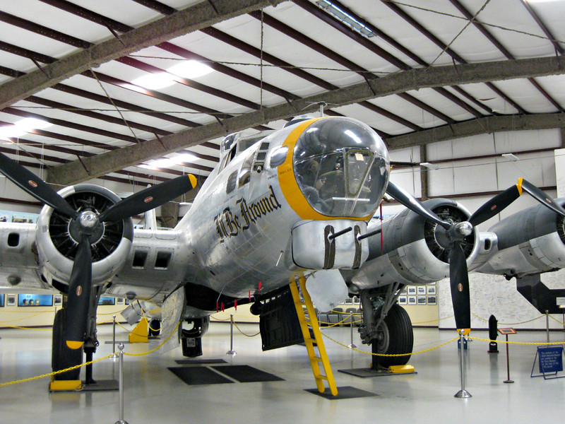 """""""VE Day: B-17G at Pima, Arizona"""" - Daily Photo - 05/08/13  Beautiful, strong and deadly, the B-17 helped win the war in Europe."""
